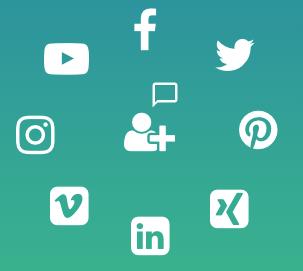 Social Media Icons neue Kunden gewinnen | SEO Bavaria
