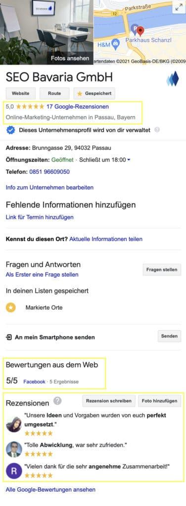 SEO Bavaria Google My Business EIntrag2